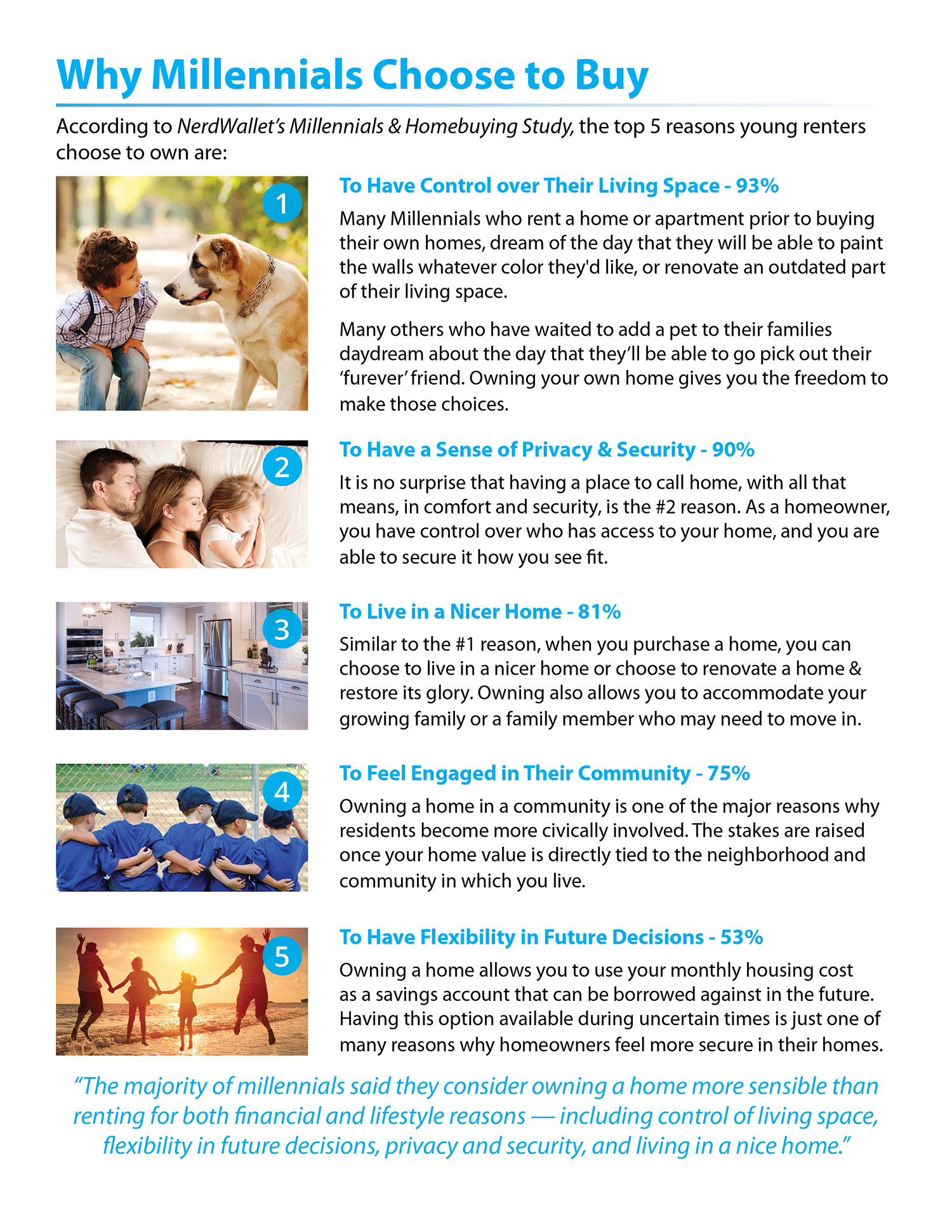 5 Reasons Why Millennials Buy a Home [INFOGRAPHIC] | Simplifying The Market